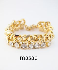 【masae】BIJOUX COLLECTION CHUNKY BRACELET #シータ・ミュー