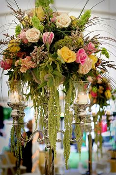 cascading center piece