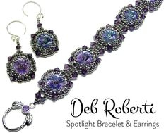 Spotlight Bracelet & Earrings beaded pattern tutorial by Deb Roberti by DebRoberti on Etsy https://www.etsy.com/listing/524958499/spotlight-bracelet-earrings-beaded