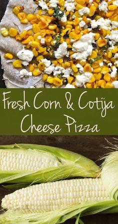 Fresh Corn & Cotija Cheese Pizza