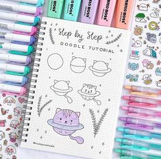 22 Simple Bullet Journal Doodle Tutorials for Beginners - # Beginners . 22 simple bullet journal doodle tutorials for beginners Bullet Journal Simple, Bullet Journal Banner, Bullet Journal Mood, Bullet Journal Ideas Pages, Bullet Journal Inspiration, Journal List, Simple Doodles, Cute Doodles, How To Doodles