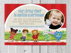 Printable Daniel Tigers Neighborhood Birthday Invitation, Photo Cutsom Daniel Tigers Neighborhood JPG Birthday Invite. $11.99, via Etsy.