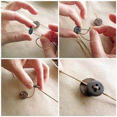 Adjustable Button Necklace - Tutorial