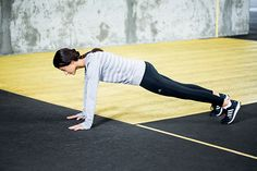 The Sit Out Start in a full plank position. Gary says it's like the top of a push-up. While in that position, lift your left hand off of the ground.