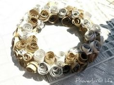 Toilet Paper Roll Flower Wreath by ChristieC