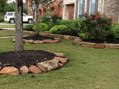 Love to do a retaining wall like this, but much higher in my front landscaping