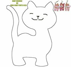 Cats Toys Ideas - Chat doudou oou Mini chat porte-cles - Ideal toys for small cats Cat Template, Applique Templates, Applique Patterns, Applique Designs, Cat Applique, Patchwork Patterns, Motifs D'appliques, Ideal Toys, Cat Quilt