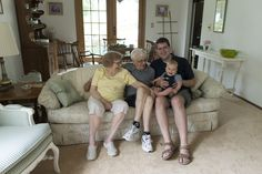 Thomas and his Great Grandparents