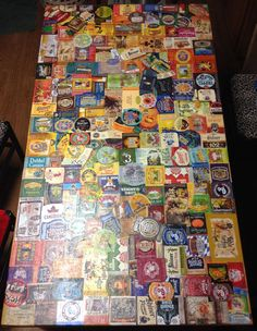 Original Poster says:  My girlfriend and I stuck craft beer labels to a table for over a year. There are no duplicates.