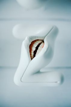 A Grotesque Three-Dimensional Oral Alphabet by Takayuki Ogawa
