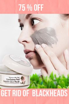 Get Rid of Blackheads with our Charcoal Blackhead Mask. This Carbonated Bubble Clay Charcoal Blackhead Mask is both a deep-cleansing makeup remover like a homemade blackhead cream! It's formulated with key ingredients like charcoal powder, green tea extracts and collagen. Our Original Charcoal Blackhead Mask. 75 % Off  #blackheadsremovalmask #HomeMadeBlackhead #blackheadsremovalmaskproducts  #CharcoalBlackheadMask #homemadeblackhead #charcoalblackheadmask #blackheadsremovalhomemade #blackhead Best Blackhead Mask, Best Blackhead Treatment, Blackhead Remover Homemade, Blackheads Removal Cream, Deep Blackheads, Beauty Routine Skin, Cucumber Face Mask, Anti Aging Mask, Natural Beauty Tips