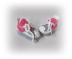 Crochet Baby sneakers Knit Baby Converse Baby boy girl boots