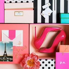Obsessed with Kate Spade Paper! Our favorite paper stores and companies on the blog:  {http://celesteandpearl.blogspot.com/2014/01/write-this-way.html}