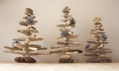 For everyone who loves crafts and making things then the seasonal holidays bring about many opportunities for trying new things or just going to town on making things. I have loved making these three driftwood Christmas Trees. They are now on sale in