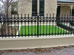 Image result for traditional metal fence panels