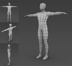 A neat low poly base mesh, ready for sculpting, or you can modify and texture it to make custom low poly characters. File types include .obj, .3ds and .lwo
