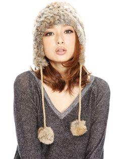 【Nutty collection】-ポンポンファー帽子