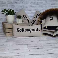 Excited to share the latest addition to my #etsy shop: Solivagant cushion, travel word cushion, wunderlust cushion, travel word pillow, travel gift, travel memento, solivagant gift