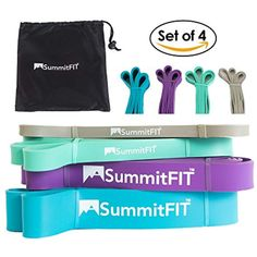 Workout Bands Tribe 11PC Premium Resistance Bands Set Ha... with Door Anchor
