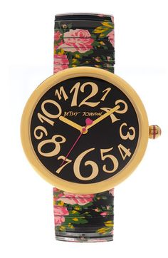 Betsey Johnson 'Lots 'n' Lots of Time' Expansion Band Watch | Nordstrom