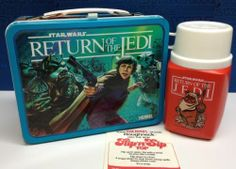 Vintage STAR WARS 1983 ROTJ Metal LUNCHBOX & THERMOS Original EXCELLENT Cond