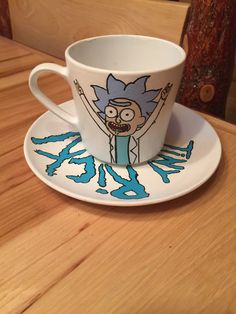 """I'm Tiny Rick! Tea Cup and Saucer 