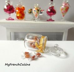 Les gourmandises Glass jar of caramel candies by MyFrenchCuisine