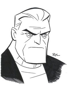 Batman Beyond Old Bruce Wayne by Bruce Timm, in Andre Chee's Conventions sketches and doodles Comic Art Gallery Room Comic Book Artists, Comic Artist, Comic Books Art, Arte Dc Comics, Bd Comics, Bruce Timm, Im Batman, Batman Art, Gotham Batman