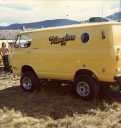 Chevy Van. Taken at the 1st. Natl. Truck In Tiger Run Campground Breckenridge CO. 1974. I was there with my 73 Dodge van.