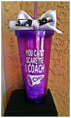 You can't scare me I'm a CHEER COACH 20 ounce by SoFabDesigns