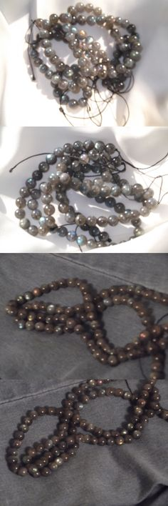 Other Loose Beads 179275: Lower Price! Genuine Grade Aaaaa Labradorite Bead Strand (Quantity: 2) -> BUY IT NOW ONLY: $49 on eBay!