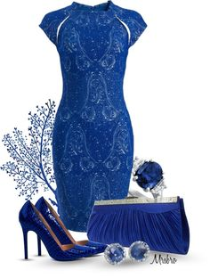 """""""The Devil in a Blue Dress"""" by mrsbro on Polyvore"""