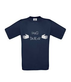 Pánske triko Hug dealer, light navy