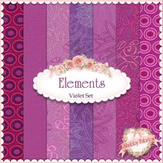 "Elements  7 FQ Set - Violet By Art Gallery Fabrics: Elements is a basics collection by Art Gallery Fabrics. 100% cotton. This set contains 7 fat quarters, each measuring approximately 18"" x 21""."