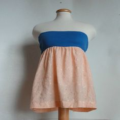 Upcycled babydoll top! Diy Clothing, Sewing Clothes, Shabby Chic Baby, How To Make Clothes, Vintage Fabrics, Blue Fabric, Unique Fashion, Dress Skirt, Cool Style