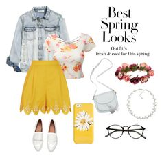 """""""Spring"""" by katherine-macedo on Polyvore featuring Belleza, LE3NO, Temperley London, Kate Spade, Forever 21, Carolee y H&M"""