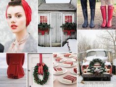 Colors for the Cousin Christmas Pic? The Perfect Palette: {Oh, There's No Place Like Home for the Holidays}: Red, Green, Gray + White