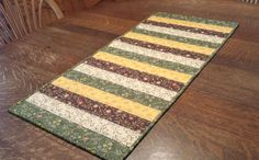 Quilted Table Runner Table Runner Patchwork by WarmandCozyQuilts #pcfteam