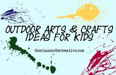 outdoor arts and crafts for kids summer