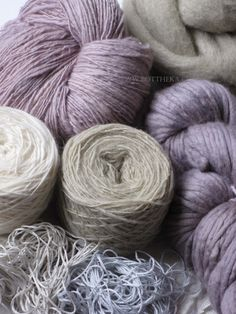 Wool, yarn, linen, embroidery tread dyed with fresh nettle and dried hibiscus flowers