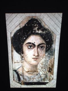 """Ancient Roman Portrait Painting """"Woman 325BC"""" 35mm Glass Art Slide"""