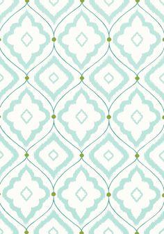 Bungalow Wallpaper in Aqua