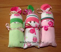 Windelbabys 'Drillinge', Mitbringsel zur Geburt von Windeltorten By Evi auf DaWanda.com