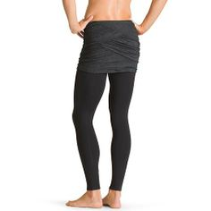 Yin-Yang 2 in 1 Tight - Practice in a skirt with this 2-in-1 tight that gives you full-length Pilayo® performance with a short fitted skirt on top.