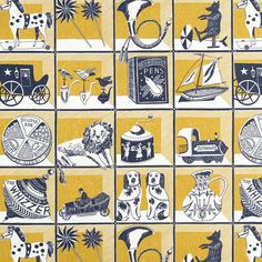 Curiosity Shop - screen printed fabric by Emily Sutton – St. Jude's Fabrics & Papers