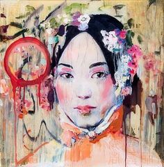 Hung Liu was born in Changchun, China in Liu studied mural painting as a graduate student at the Central Academy of Fine Art in Beijing, Art And Illustration, Mural Painting, Figure Painting, Paintings, Hung Liu, Blog Art, Art Chinois, Art Asiatique, Art Design