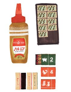 Japanese packaging sketches by Grace Lee.