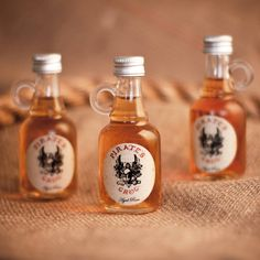 Box set of three #PiratesGrog Rum Miniatures, available now from Not On The High Street!  Include a personalised message on wax sealed scroll for free! http://www.notonthehighstreet.com/piratesgrogrum/product/three-pirate-s-grog-rum-minatures