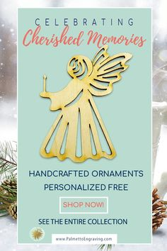 Looking for a Beautiful Angel Ornament? See our handmade Angel ornaments. Personalized Free! They would be a cherished addition to your Christmas decor or a special gift for someone on your list! Made in the USA - Like this? Get a discount code here: www.palmettoengraving.com/discount  . #angeldecor #angelornament #christmasangel #traditionalChristmas #Christmasinspiration #christmasornaments #xmasornament #holidayornaments #christmasornament #holidaydecorations #holidayseason…
