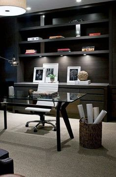 30 Cool Home Office Inspiration Ideas For Men